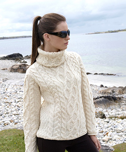 Аранский женский свитер CW1825 от Aran Crafts