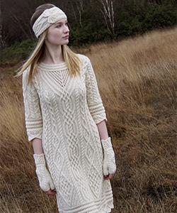 Женское вязаное платье X4326 от Aran Crafts