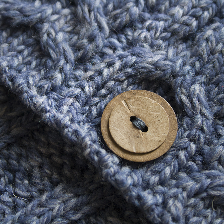 Irishwoolru вязаный шерстяной шарф снуд на пуговицах A518 от