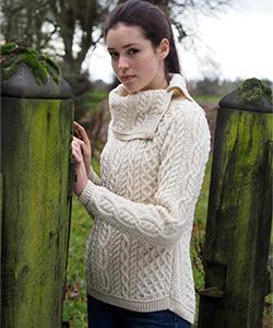Женский шерстяной свитер CW4618 от Aran Crafts