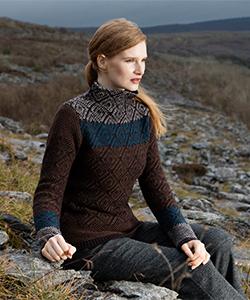 Женский свитер SE217G из шерсти ягненка от Fisherman Out of Ireland