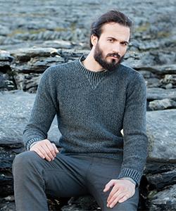 Мужской свитер из шерсти ягненка FE218G от Fisherman Out of Ireland