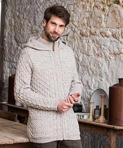 Мужской шерстяной худи на молнии HD4705 от Aran Crafts