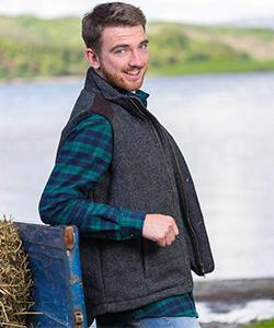 Твидовая жилетка на молнии Kerry Grey от Lee Valley Ireland