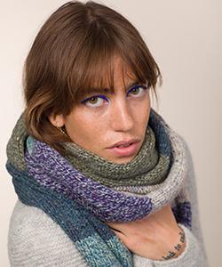 Длинный вязаный шарф из FE227M из мериноса Fisherman Out of Ireland