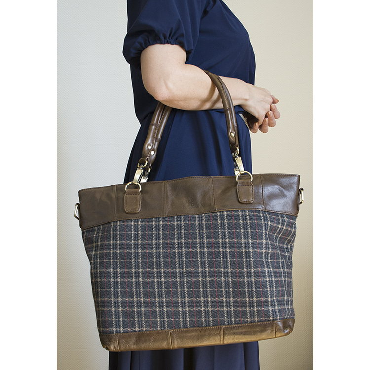 IrishWool.Ru - купить женскую сумку из натуральной кожи и твида R673 ... de580672201